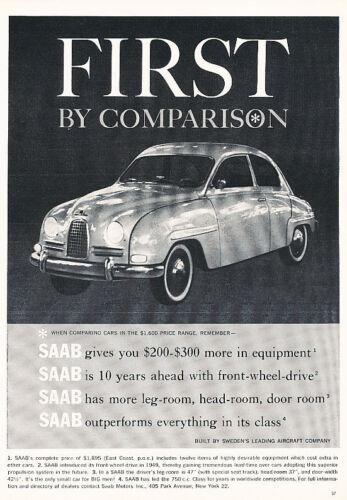 1960 SAAB 93 Classic Vintage Advertisement Ad H04 sweden