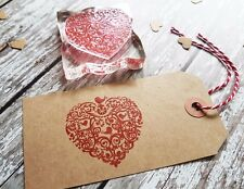 Rubber Stamp HEART and BIRDS WEDDINGS GIFT TAGS SPECIAL OCCASIONS CRAFT