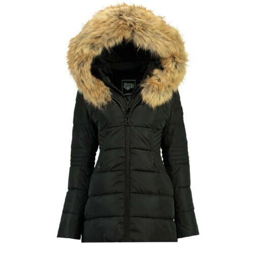 Ladies Parka Norway Winter Goose Hood Stone Fur Jacket Coat Geographical By wZqTxFIH