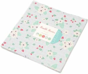 Bumble-Berries-Moda-Layer-Cake-42-100-Cotton-Fabric-10-034-Precut-Quilt-Squares