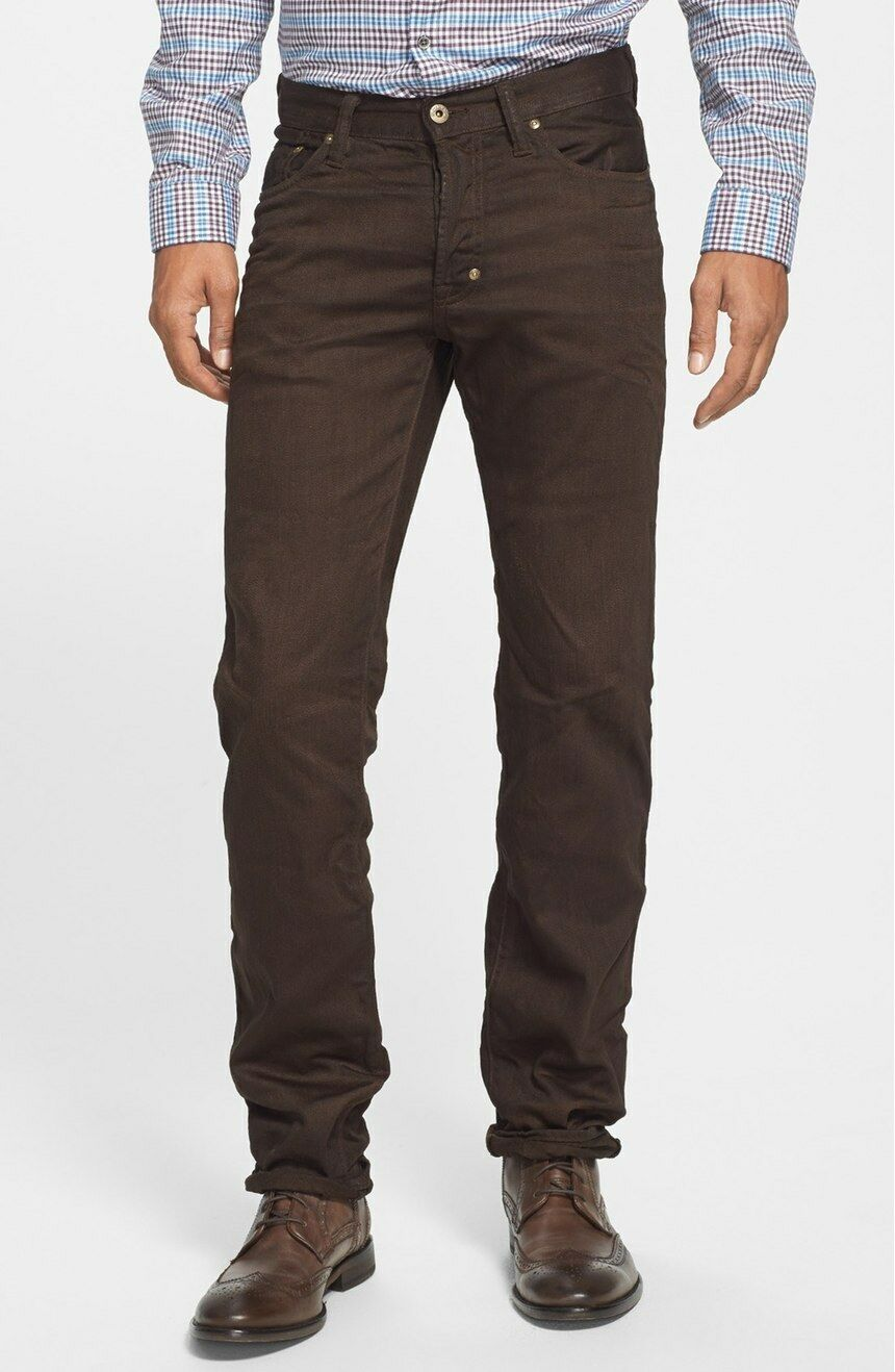 Nuova con Etichetta Prps Goods & & & Co Sz30 Rambler Aderente Jeans in Marronee 5ae0ec