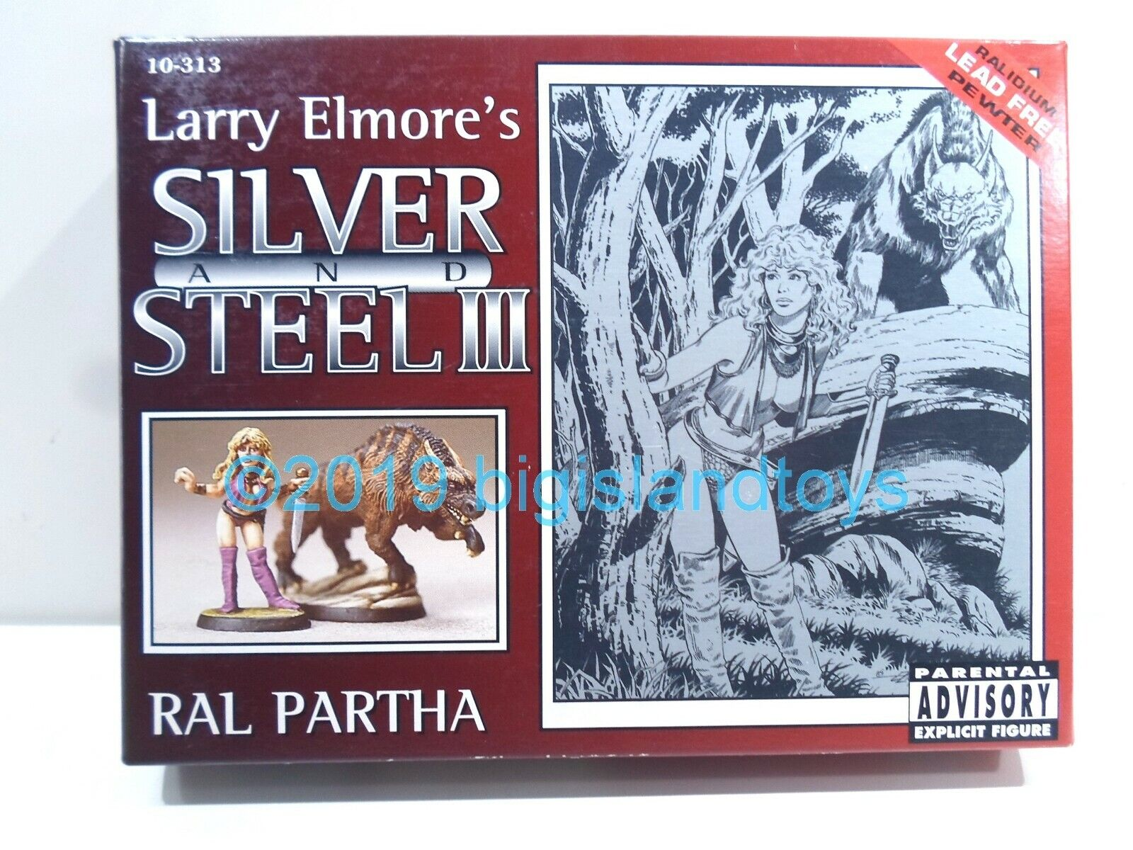 RAL Partha miniaturas  10-313 Larry Elmore de plata y acero III