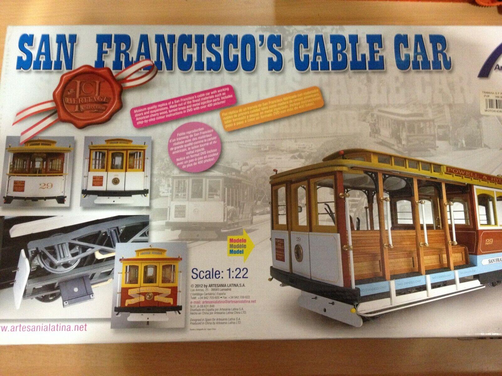 nuevo listado Artesania Latina SAN SAN SAN FRANCISCO^S CABLE Coche,Ref.20330,escala 1 22  tienda en linea