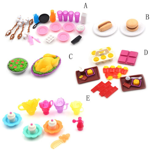 Dollhouse Miniature Cooking kitchen food Set For  Kids Play House Toy =TOC