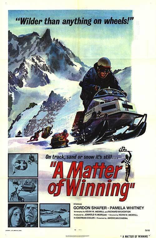 SNOWMOBILE RACING original 1973 27x41 one sheet movie poster A MATTER OF WINNING