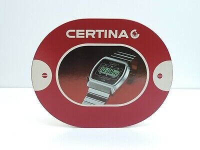 Intelligent Vintage Certina Quartz Uhr Schild Reklame Werbung 70er Jahre Selten GläNzende OberfläChe