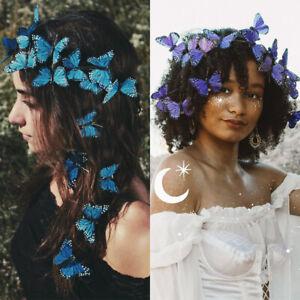 2/12PCS Women Butterfly Hair Clips Hair Pins Barrette Bridal Wedding Accessories