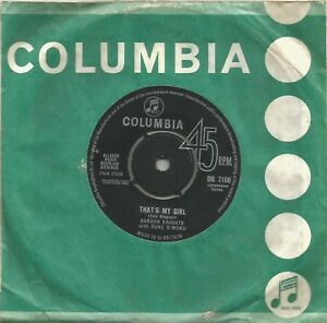 Barron-Knights-That-039-s-My-Girl-original-1963-7-inch-vinyl-single
