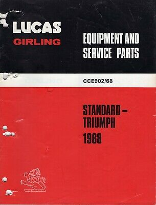 Girling Lotus Parts Specifications Sheets Lucas