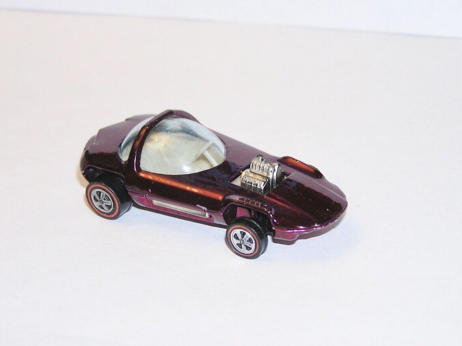 1968 Hot wheels rougeline Silhouette Etats-Unis magenta super sympa YR1 écran pièce  Sc