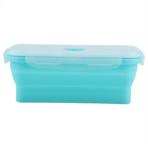 Silicone Food Portable Lunch Box Bento Folding Collapsible Storage Container OS