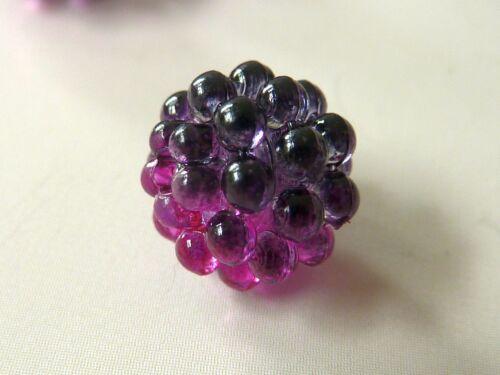 Beere Perle Kugel 10 mm rund fuchsia weinrot bordeaux Kunststoff 1364