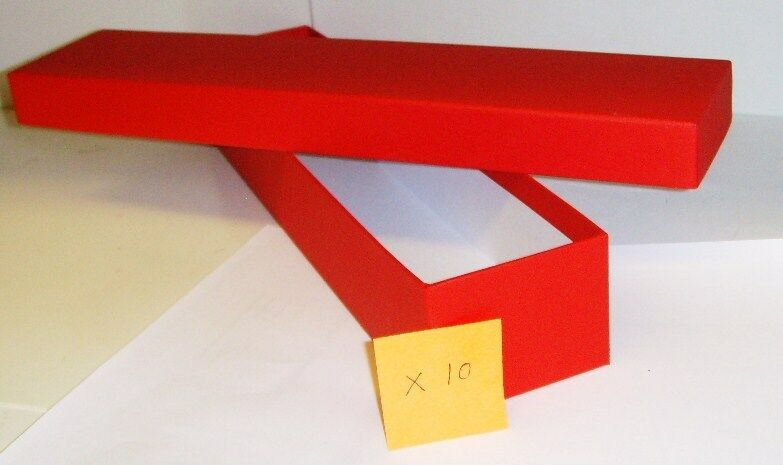 Loco/Locomotive Storage Boxes, Large  rosso  with Lids x 10 - Nuovo.
