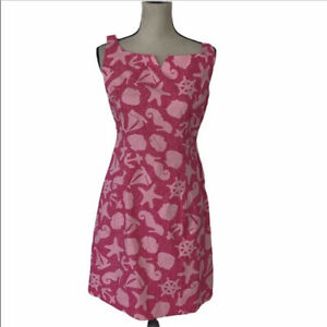 NWT LILLY PULITZER PINK DRESS SIZE 6P Msrp 162$