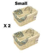 2 x 100% FARFALLA ecocompatibili BIANCO VIMINI CESTO di stoccaggio-Small 9364-sbt-2pk