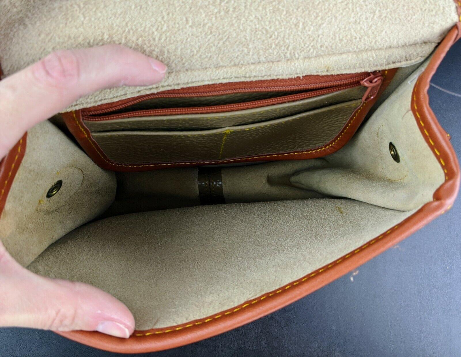 Dooney & Bourke Tan Brown Small Purse Handbag Tra… - image 8