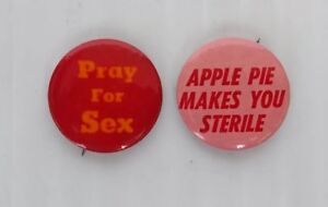 Pray-For-Sex-and-Apple-Pie-Makes-You-Sterile-Two-Vintage-Lapel-Pins