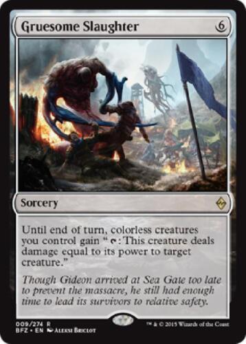 Gruesome Slaughter Rare Battle for Zendikar ~~~ MINT ~~~ UNPLAYED MTG Magic