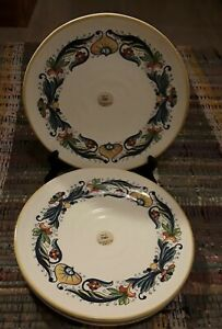 New-Ceramica-Cuore-Decal-Ceramic-SET-of-3-Dinner-Plates-11-1-8-034-Made-In-Italy
