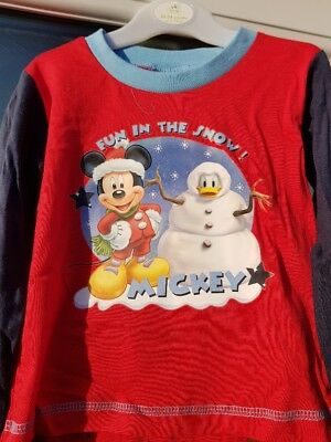 Kids' Clothing, Shoes & Accs Disney Baby Mickey Donald Pigiama Divertente Nel Neve 12-18 Mesi Agreeable Sweetness