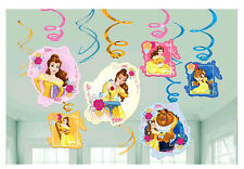 Beauty and Beast Bell Hanging Swirl Decoration Danglers Birthday Party Supplies