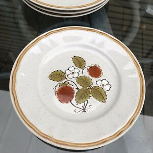 Berries N Cream Americana Hearthside Stoneware Salad/Desert Plates ...