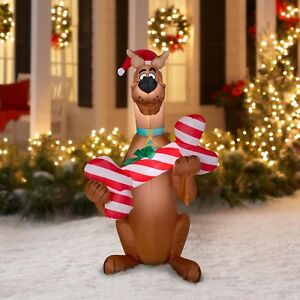 image is loading christmas inflatable scooby doo led lighted outdoor holiday - Led Lighted Outdoor Christmas Decorations