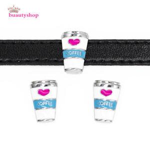 5pcs 8 mm Cheval Slider Charms Fit À faire soi-même Nom Bracelet//téléphone bande//Pet Collar SL559