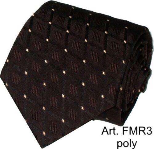 Cravatta fantasia regimental marrone personalizzabile cravate tie corbata