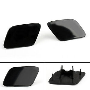 Front Bumper Headlight Washer Jet Cover Cap For Audi A4 B6 Quattro 02-05 L+R A01