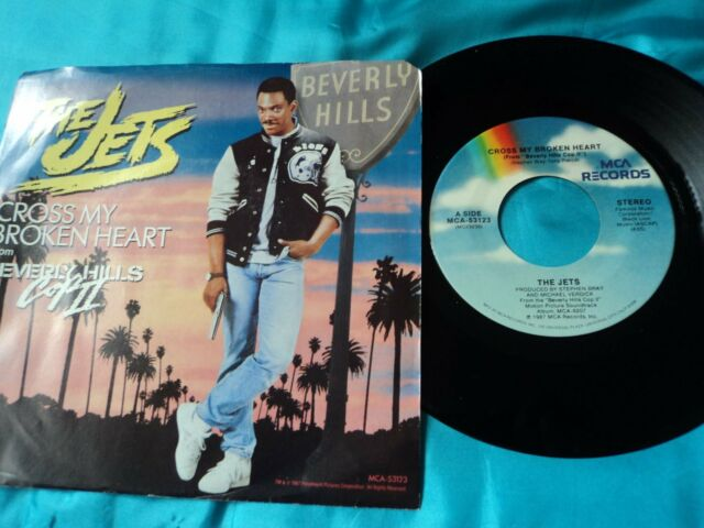 "JETS  Cross My Broken Heart 7"" B/w Bad Guys By The Heat (mca53123) Pic VG / VG"