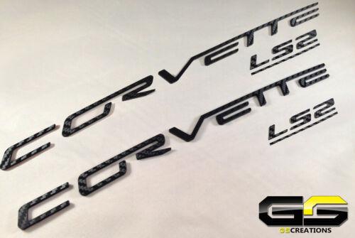 C6 Corvette LS2 Fuel Rail Cover Letter Insert Kit 3m CARBON FIBER Di-noc