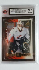 Roberto Luongo 1997 98 Zenith Rookie Card Ksa Graded 9 5 Ebay