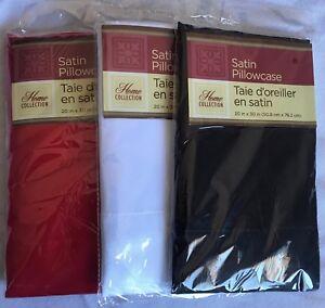 Standard / Queen Size 100% Polyester Satin Pillow Case 1 Single Pillowcase pack