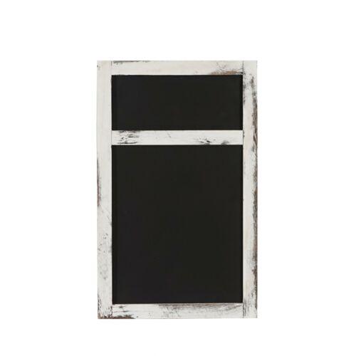 55x34x2cm Shabby-Look Vintage weiß Wandtafel Kreidetafel Werbetafel
