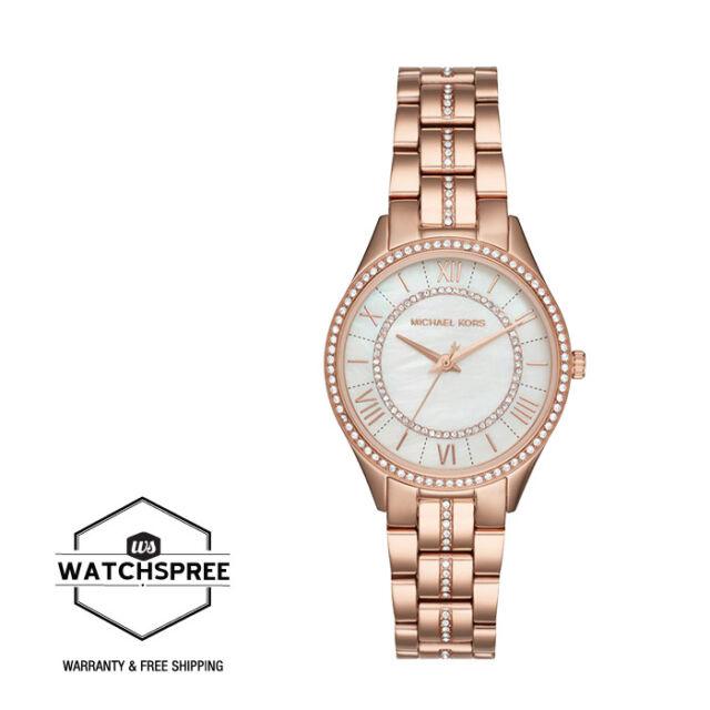 7ee8142ff34d Michael Kors Lauryn Crystal Watch MK3716 Stainless Steel 3 Hands ...