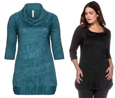 Sheego Shirt Bluse Tunika Gr NEU 44//46 bis 56//58 grau mit Spitze unten 131