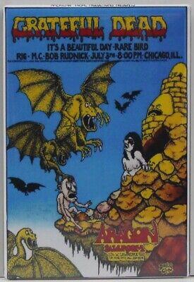 "Watkins Glen 1973 Locker Magnet Grateful Dead Poster 2/"" X 3/"" Fridge"