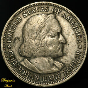 1893-World-039-s-Columbian-Exposition-052720-09E-Silver-Commemorative-Free-shipping