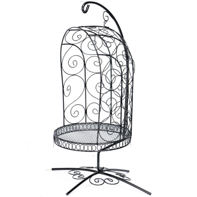 White Dollmore 1//4 Scale Bird Cage Style Iron Chair only
