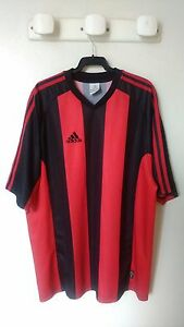 Maillot-ROUGE-amp-NOIR-ADIDAS-CLIMACOOL-annees-2000-style-Milan-AC-OGC-NICE