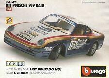 X7147 BBURAGO - Porsche 959 Raid - Pubblicità 1993 - Advertising