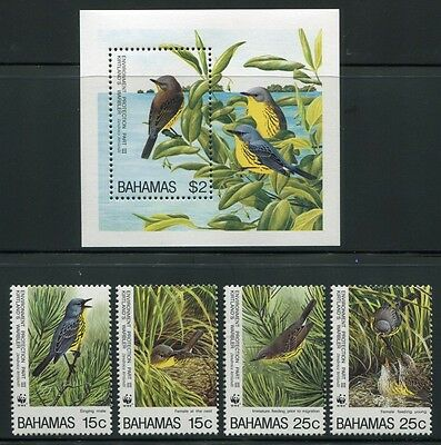 Bahamas 1995 Wwf Vögel Birds 866-869 + Block 78 ** Mnh Diversified In Packaging