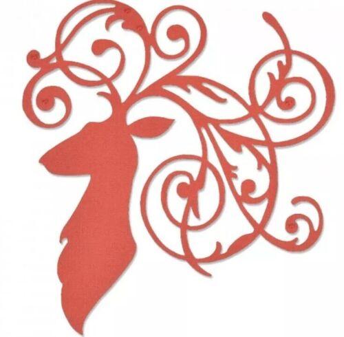Sizzix thinlit elegante ciervos Die 661300 Navidad Reno