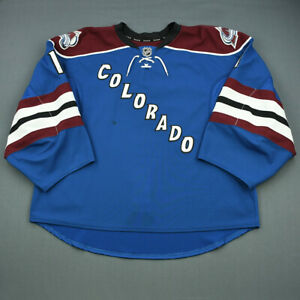2013-14-Semyon-Varlamov-Colorado-Avalanche-Game-Used-Worn-Hockey-Jersey-MeiGray
