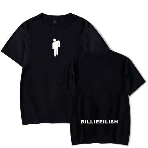 NEW Billie Eilish T Shirt Pop Singer Fans Gift Ocean Eyes Youth Top 0423 VIP