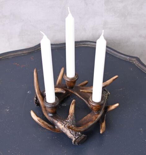 Geweihkranz Kerzenhalter Tischleuchter Hirschgeweih Geweihleuchter Kerzenständer