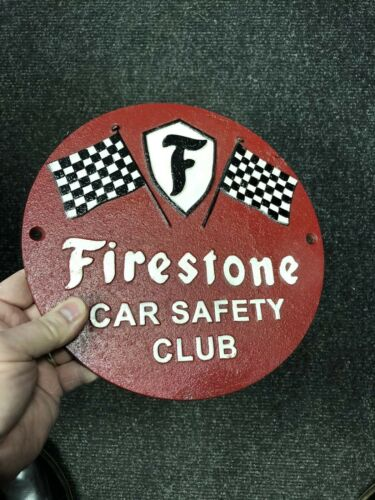 FIRESTONE CAST IRON SIGN