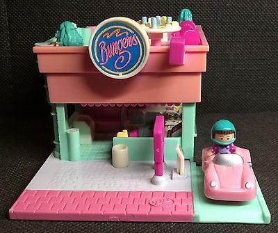 2019 Nuovo Stile Polly Pocket Mini ???? 1994-drive-thru Burger Stand Ristorante Burger-mostra Il Titolo Originale