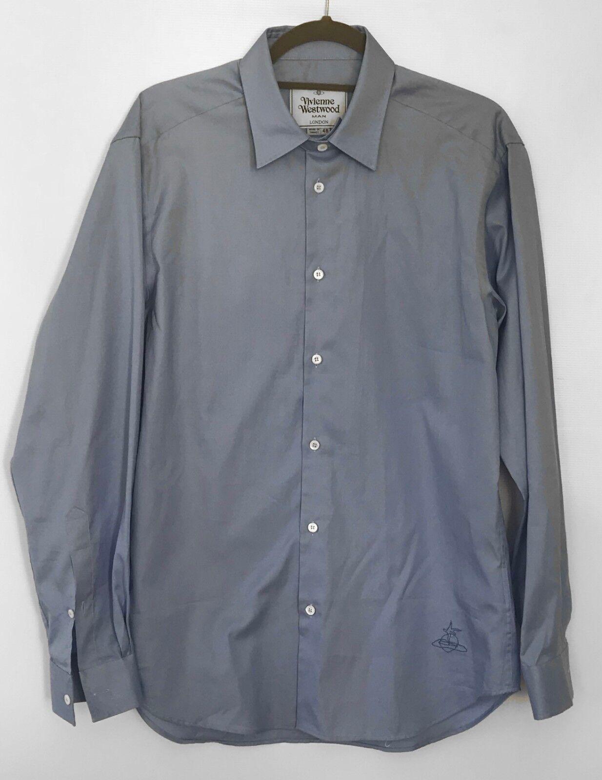 Genuine Vivienne WESTWOOD Uomo Camicia, Blu, taglia media 48